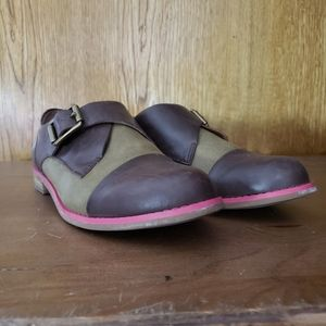 Vtg Lucky Brand Oxfords Boho Monk Strap 8.5